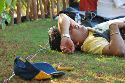 #5. Take an afternoon siesta on the grass while the musicians get their act together.