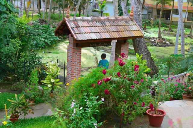 We chose to go to Dr. Unnikrishnan's Ayurvedic center, a beutiful serene cottage built on an elevation surrounded by plants and coconut groves.