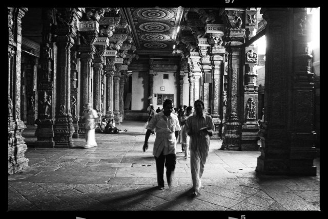 Meenakshi temple in Madurai dates back as far as 3,500 years! Apparently, the city was built around the Shiva lingam that's inside its sanctum. The temple complex covers 15 acres, and has 4,500 pillars and 12 towers -- it's massive!