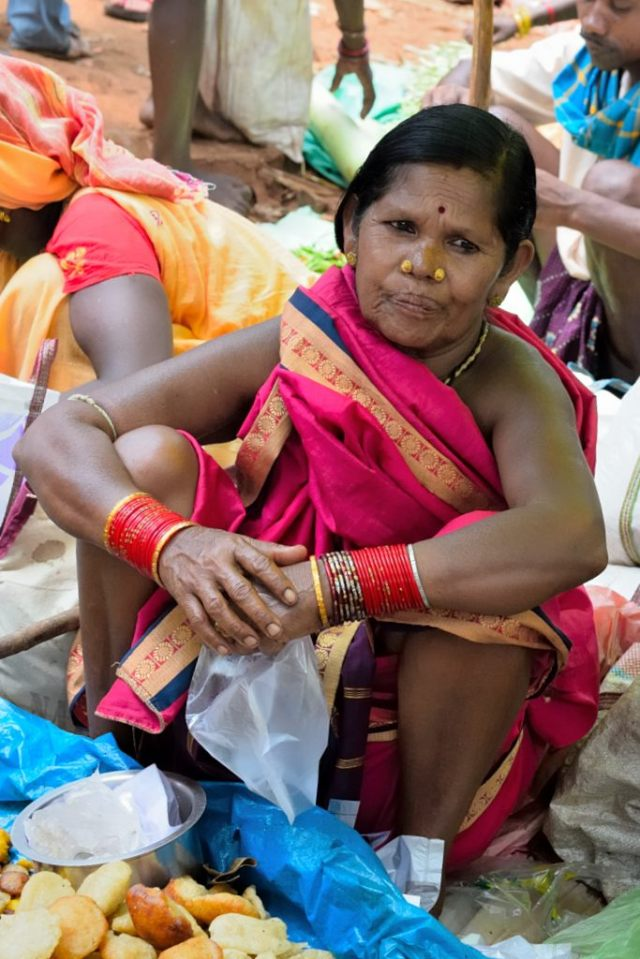 Noserings are a symbol of financial well being in this region. The more prosperous a family, the bigger the nose ring