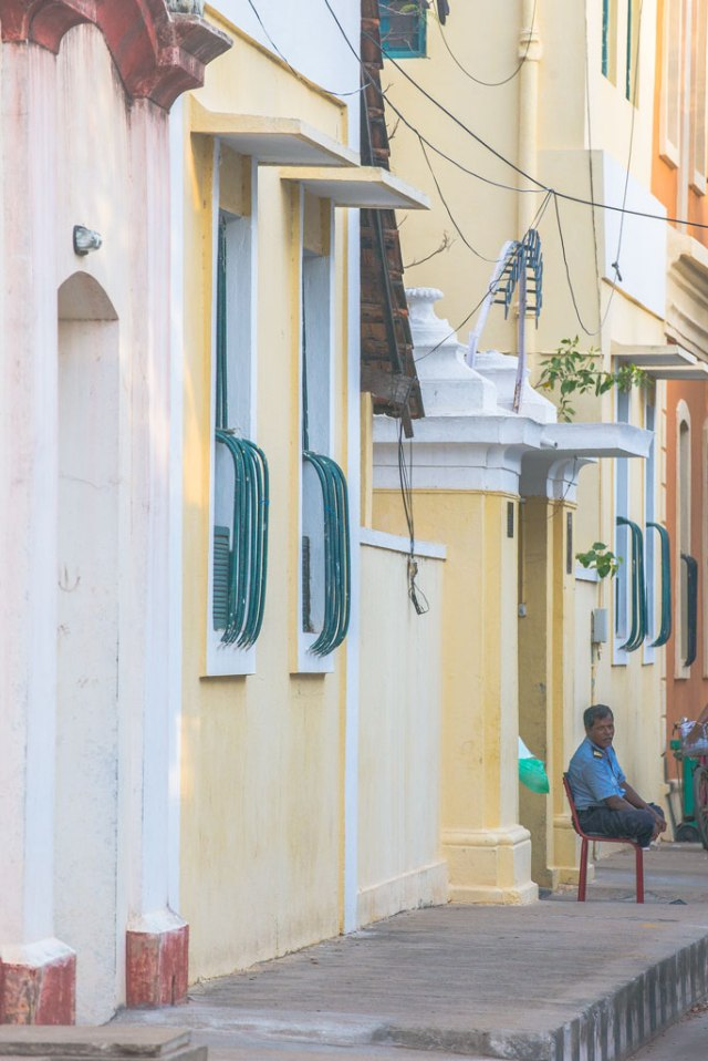 There's a certain romance in walking around the streets in Pondicherry. Plenty of nice places to eat some fusion food.
