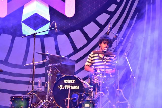 Tapass Naresh on drums